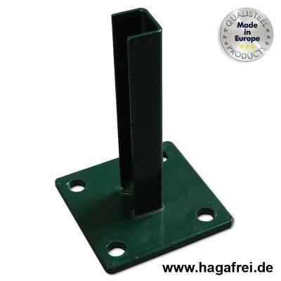 Standfußbodenplatte für zaunpfosten 60x40mm
