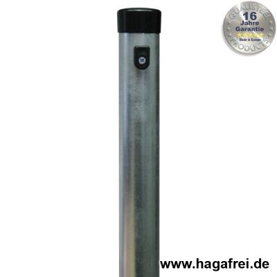 Zaunpfahl feuerverzinkt Ø 42 mm mit Drahthalten