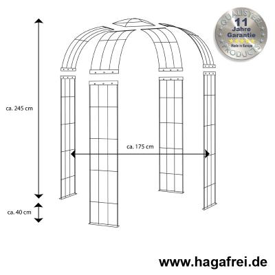 Pavillon 4-armig feuerverzinkt ca. 2450x1750x1750 mm