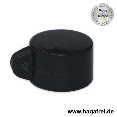 Ösenkappe rund, schwarz