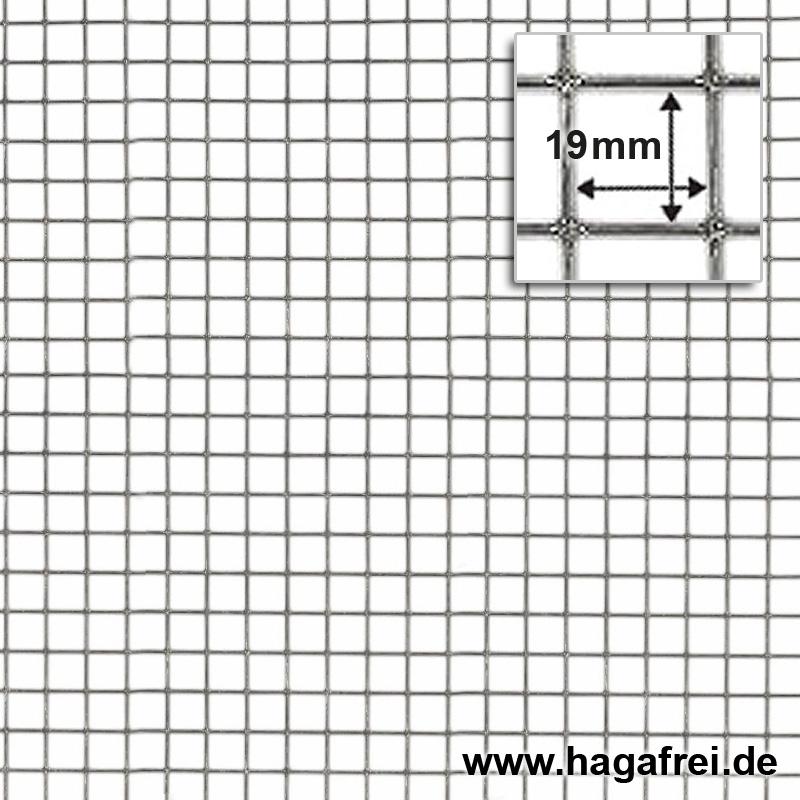 Punktgeschweißtes Gitter feuerverzinkt 19x19mm - Maschendrahtzaun ...