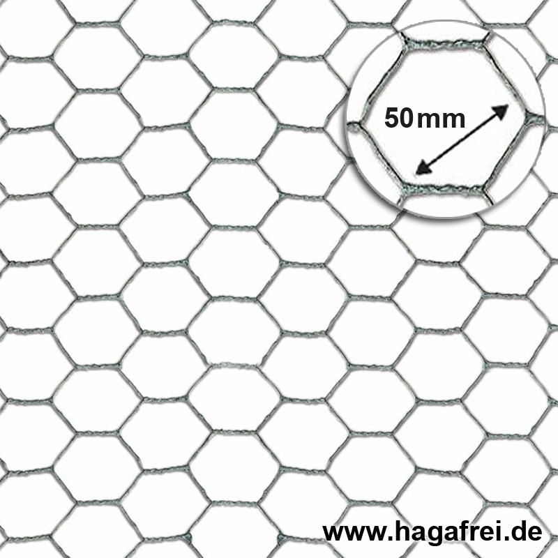 Sechseckgeflecht verzinkt Maschung 50x1,0mm - Maschendrahtzaun und ...