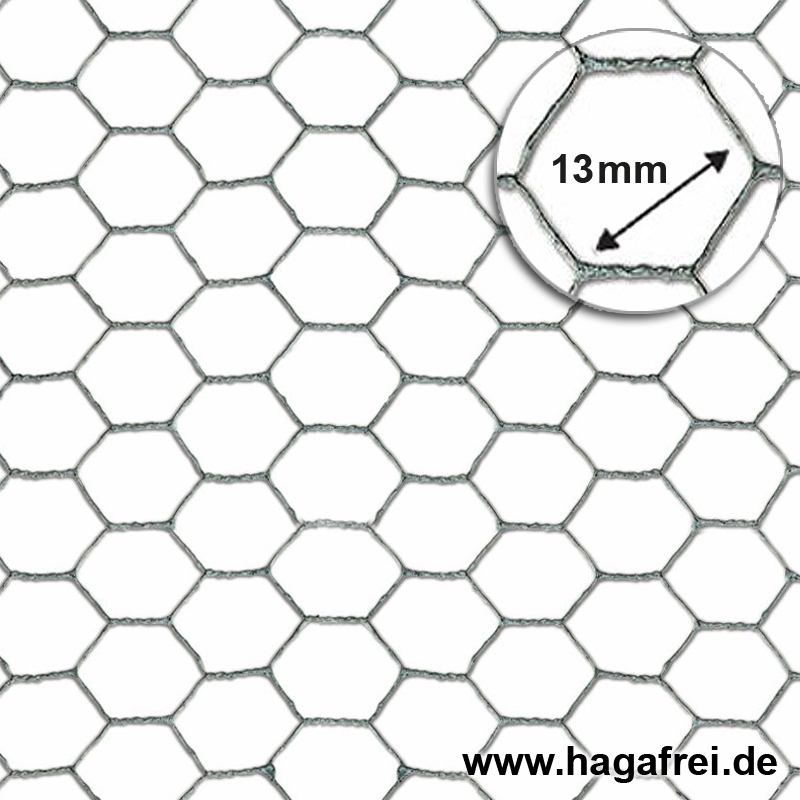 Sechseckgeflecht verzinkt 13x0,7mm 0,5x5m - Maschendrahtzaun und ...