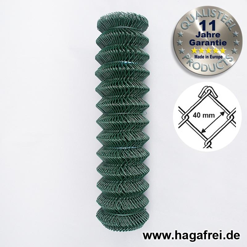 Maschendraht grün 40 x 40 x 2,8 mm, 15m Rolle - Maschendrahtzaun und ...