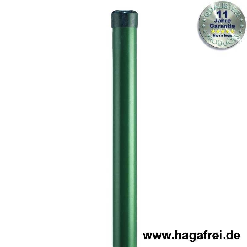 Rundpfosten grün ohne Drahthalter - Maschendrahtzaun und Zubehör ...