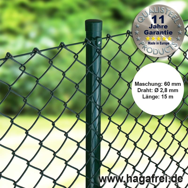 Maschendrahtzaun Grün 60x60mm  150cm 175cm 200cm 15m 30m 45m 60m Gartenzaun Zaun