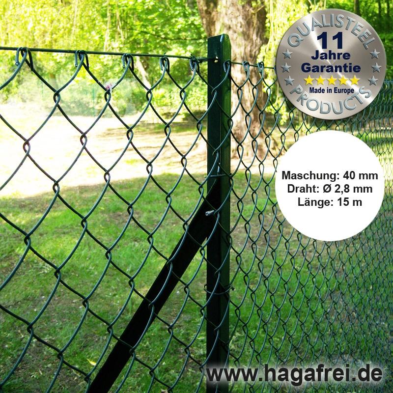 Maschendraht-Zaunsets grün mit T-Pfosten - Maschendrahtzaun und ...