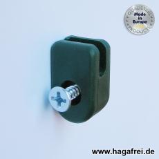 Spanndrahthalter mit selbstschneidender Schraube