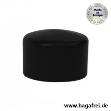 Pfostenkappe rund, schwarz