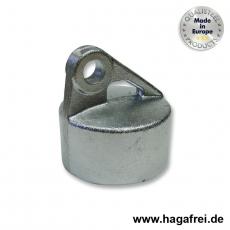Strebenkappe rund, Aluminium