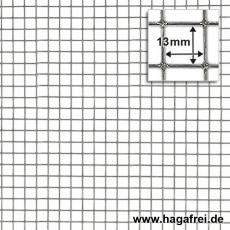 Punktgeschw. Gitter verzinkt 13x13x0,8mm 10m Rollen