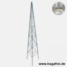 Obelisk 3-seitig feuerverzinkt ca. 1800x400x400 mm