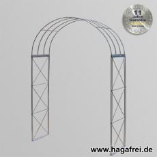 Rosenbogen 3-tlg. Kreuz feuerverzinkt ca. 2400x1500x400 mm