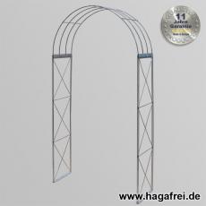 Rosenbogen 3-tlg. Kreuz feuerverzinkt ca. 2300x1200x400 mm