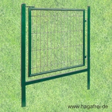 Gartentor grün 1000X1000 mit Schließriegel