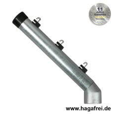 Stacheldrahtaufsetzer fvz. mit Aluminiumwinkel 42/42/300 mm