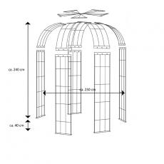 Pavillon 5-armig feuerverzinkt ca. 2450x2300x2300 mm