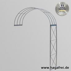 Rosenbogen 2-tlg. Kreuz feuerverzinkt ca. 2400x1500x400 mm