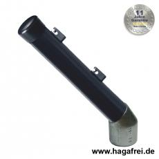 Stacheldrahtaufsetzer schwarz mit Aluminiumwinkel 42/42/250 mm