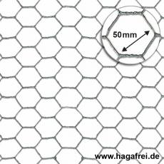 Sechseckgeflecht verzinkt 50x1,0mm 50m Rollen