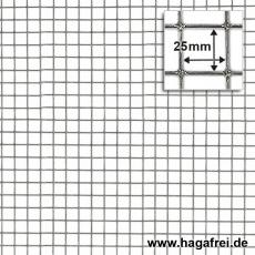 Punktgeschw. Gitter verzinkt 25x25mm 1m Höhe 25m Rollen