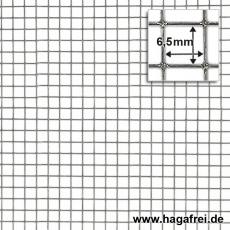 Punktgeschw. Gitter verzinkt 6,5x6,5x0,7mm 1,0x25m