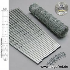 W-Forstprofil Wildschutzzaunset 200-22-15 2,00X50m