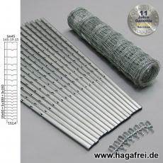 W-Forstprofil Wildschutzzaunset 145-19-15 1,45X50m