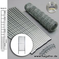 W-Forstprofil Wildschutzzaunset 160-20-15 1,60X50m inkl. Tor