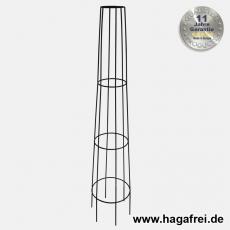 Obelisk Venecia rund 130 cm schwarz pulverbeschichtet