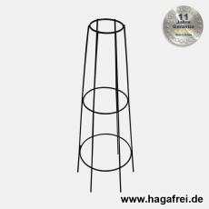 Obelisk Venecia rund 80 cm schwarz pulverbeschichtet