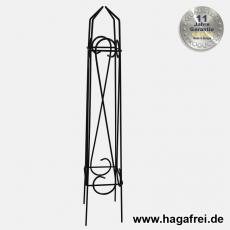 Obelisk Orelia quadratisch 80 cm schwarz