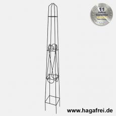 Obelisk Orelia quadratisch 130 cm schwarz