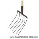Rübengabel, 6 Zinken, Holzstiel 0,9m und Holzgriff / 144-A