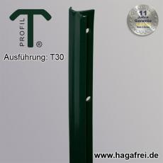 T-Zaunpfosten thermoverzinkt + grün 30mm Breite