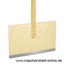 Schneeschaufel aus Holz mit Holzgriff und Stiel 1,10 m / 118-A