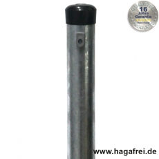 Zaunpfahl feuerverzinkt Ø 48 mm mit Drahthaltern