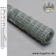 Knotengeflecht extradickverzinkt 160x23x15 50m
