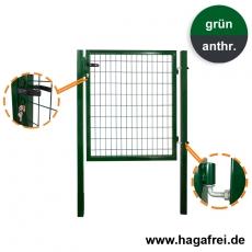 AKTION - Gartentor Vierkantrohr 1000 mm Breite in grün oder anthrazit