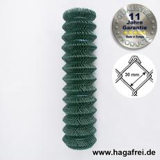 Maschendraht 10m Rolle grün Maschung 30x30mm, 2,4mm Drahtstärke