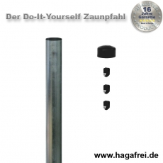 Do-It-Yourself Zaunpfahl feuerverzinkt Ø42mm