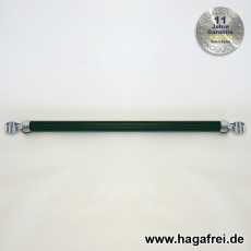 Spannbrücken verzinkt + grün Ø42mm mit Schellen 42mm