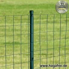 Zaunset Gitterzaun Rundpfosten grün Maschung 100X100X2,2mm