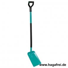 Metallschaufel mit Metallstiel und Metallgriff / 140