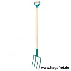 Gartengabel mit Holzstiel und Metallgriff, 0,90 m / 142-A
