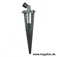 Strebenplatte fvz. 100x100mm für Einschlaghülsen