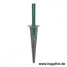 Einschlaghülse fvz für Pfosten Ø34mm 100x100x510mm