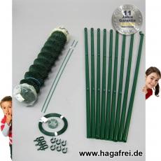 Profi-Zaunset Rundpfosten Maschendraht 15m grün 60 x 60 x 2,8 mm