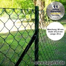 Profi-Set T-Profilpfosten Maschendraht 25m grün 60 x 60 x 2,4 mm