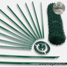 Profi-Set T-Pfosten thermoverzinkt 25m grün 50 x 50 x 2,8 mm